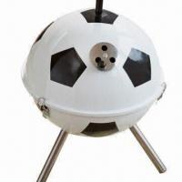 Quality Football Shape Barbecue Grill with 0.4mm Iron Plate Powder Coated Finish wholesale