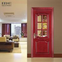 Quality Rural Hotel Solid Wood Interior Doors With Glass High Temperature Resistant wholesale