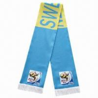 China Football Fans/Silk Scarves, Measures 17 x 130cm, OEM Orders are Welcome on sale