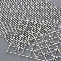 Cheap Decorative Crimped Woven 65mn Square Hole Mine Sieving Galvanized Steel Material for sale