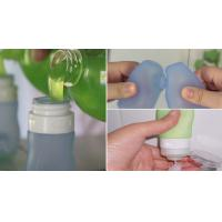 Buy cheap hot sell Empty Squeezable Silicone Refillable Travel Shampoo Cream Tubes Bottle product