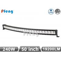 Quality 50 Inch Single Row Led Light Bar 240W Curved 10W Each LED Cree Chip wholesale