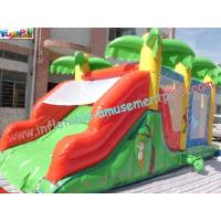 Quality Custom Large Inflatable Bouncer Slide PVC Tarpaulin With 6Lx4Wx4H Meter wholesale