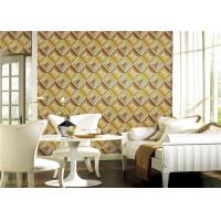 China TV Background 3D PVC Wallpaper Waterproof With Geometric Pattern Design on sale