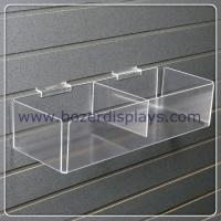 Clear Acrylic Slatwall Bin with Two Bins for Document Display for sale