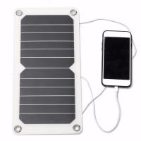 Quality A Grade Sunpower Thin Flexible Solar Panels 5V 5W For Outdoor Traving / Camping wholesale