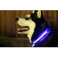 Quality Brightness Blinking LED Pet Collar Powered By Batteries With Custom Logo wholesale