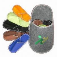 Buy cheap 5-in-1 indoor embroidered felt slippers set, handmade and fashionable design, from wholesalers
