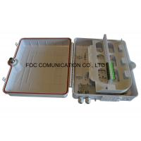 Quality IP65 UV Resistant Fiber Optic Termination Box Wall / Pole Mount ABS Plastic Materials wholesale