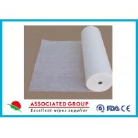 Quality 50% Viscose Healthy Non Woven Cloth Cross Lapping Soft Hygeian White wholesale