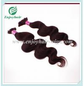China Malaysian 5A virgin remy hair bulk ,color 99j#, body wave 10''-26''length hair extension on sale