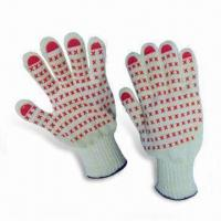 Quality Hand Protecting Kevlar Safety Gloves with PVC Dots on Palm and Anti-skid-cutting Function wholesale