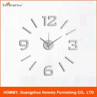 China Digital wall clock fashion clock plastic sticker clock on the wall on sale