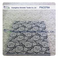 China Women Garments Nylon Cotton Lace Fabric With Floral Panel 1.45 - 1.5m Width on sale