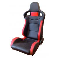 Quality Comfortable PU Leather Sport Auto Racing Seats / Black And Red Racing Seats wholesale