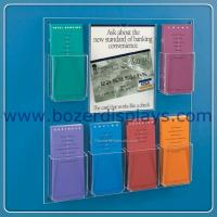 China Wholesale Wall Mount Brochure Rack With Multi-Pockets for sale