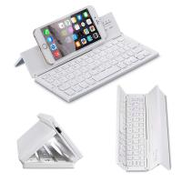 Quality Metal Aluminum Alloy 3 Level Foldable Bluetooth Keyboard Rechargeable Portable Folding Wireless Keyboard wholesale