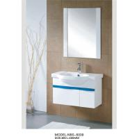 Quality Square Type PVC Bathroom Cabinet with mirror various size Stainless steel soft hinges wholesale