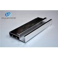 China Silver Polishing Standard Aluminum Extrusion Profiles For House Decoration on sale
