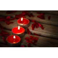 Quality burning effect red mini candle wholesale