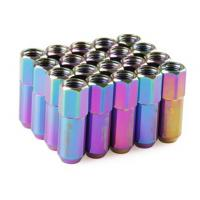 Quality Neo Chrome Racing Wheel Nuts 12 x 1.5 for Acura , Toyota , Mazda , Buick , Ford wholesale