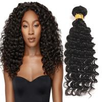 Quality Natural Black Virgin Human Hair Bundles Without Lice / Machine Double Weft wholesale