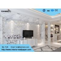 Quality 3D Design Silver Grey European Modern Wallpaper for Bedrooms TV Background wholesale
