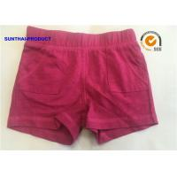 Quality Raspberry Color Baby Girl Knit Shorts , Attractive Toddler Girl Cotton Shorts wholesale