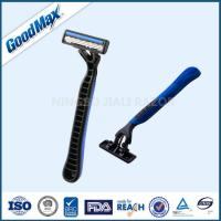 Quality Stainless Steel Triple Blade Shaver Disposable With Non - Slip Rubber Grips wholesale