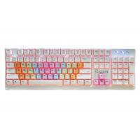 Cheap Colored USB Wired Gaming Keyboard / Pc Gaming Keypad Adjustable LED Backlight for sale