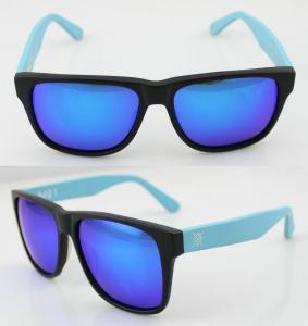 Quality Fashion Custom Blue Acetate Frame Sunglasses , Vogue Sun Glasses wholesale