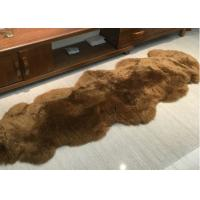 Quality Real Sheepskin Rug Home Design Real Animal Fur Factory Direct Sale Dyed Brown wholesale