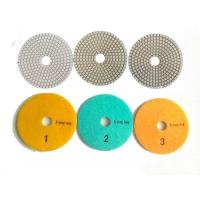 Quality White 3 Steps 4 Inch Wet Diamond Polishing Pads For Stone / Marble wholesale