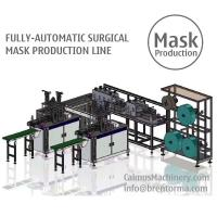 China Fully-automatic Medical Surgical Mask Making Machine Production Line on sale