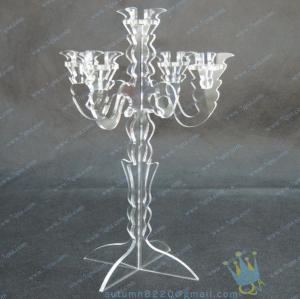 Quality CH (8) wholesale mercury Acrylic candle holders wholesale