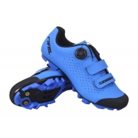 China Blue BOA Dial Adjustment Carbon Fiber Cycling Shoes on sale