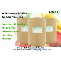 Quality Food Grade Acid Pectic Enzyme Powder Stable Activity For Juice Processing 50 000 U / g wholesale