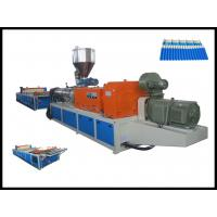 Quality High Efficiency Durable Twin Screw Extruder For Plastic Corrugated Roofing Sheet Making Machine wholesale