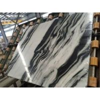 Quality Luxury Italian Marble Slabs , Panda White Marble Slab With Gray Lines wholesale