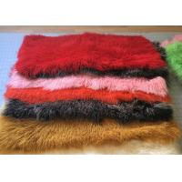 China Dyed Color Soft Skin Mongolian Sheepskin Rug 60 *120cm For Garment Shoes on sale