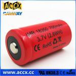 ICR18350 700mAh 3.7V li-ion battery 18350 for led, cordless phone, home