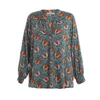 Quality Custom Printed Fashion Ladies Blouse Cotton / Spandex Women