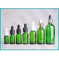 Quality Green Glass Dropper Bottles , 10ml 20ml 30ml E-Liquid Dropper Bottle  wholesale
