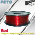 Quality Hight Transparent Red PETG 3D Printer Filament Acid And Alkali Resistance 1.0kg / roll wholesale