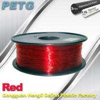 Quality Hight Transparent Red PETG 3D Printer Filament Acid And Alkali Resistance 1.0kg / roll wholesale