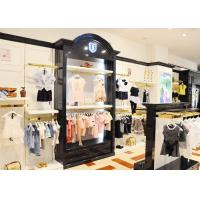 Quality Durable Kids Retail Clothing Fixtures Garment Shop Wood Adjustable Shelves wholesale
