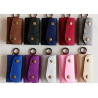 Quality Accept OEM 43 Colors Felt Key Wallet Business Gifts Key Holder with 6 Hooks wholesale