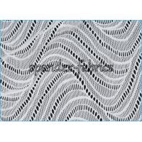 Quality Smooth And Strong Strength Wave Like Elastic Lace Fabric Nylon Lycra Material wholesale