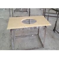 Quality Sunny Gold Marble Sink Top , Kitchen Wash Basin Marble Vanity Countertops wholesale