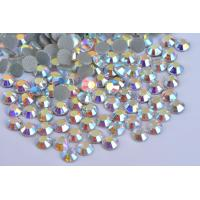 Quality Fashionable Crystal AB Hotfix Rhinestones / Colorful Large Flat Back Gems wholesale
